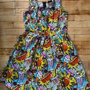 Quirky Fast Food Print Dress